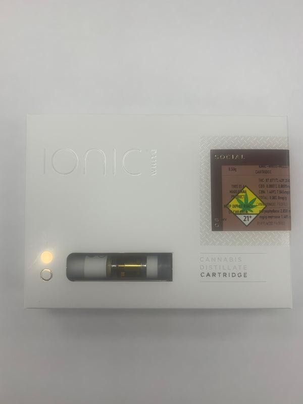 Mellow Yellow Hybrid 0.5g Cart Ionic White {331}