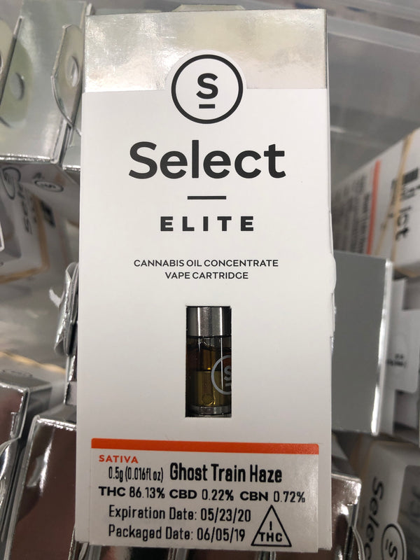 Elite Ghost Train Haze sativa  .5g cartridge {327-A}