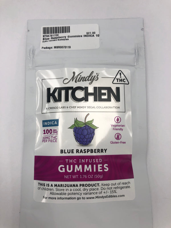 Blue Raspberry Gummies Mindy's Kitchen Edibles Indica {243}