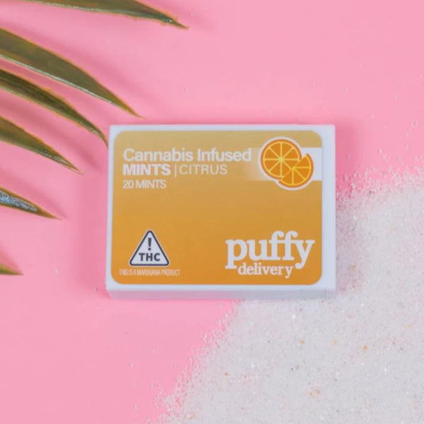Puffy Delivery - Citrus Cannabis Infused Mints - 100mg - NV