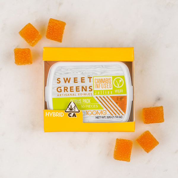 Sweet Greens - Vegan Jellies - Citrus Pack - 100mg - Hybrid