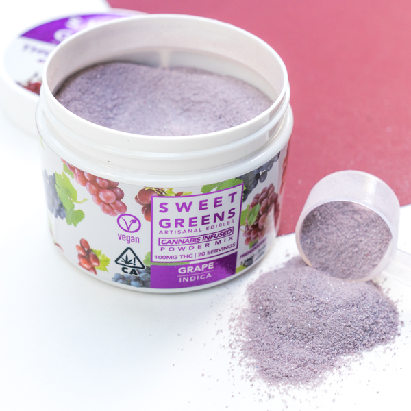 Sweet Greens - THC Powder Mix - Grape - 100mg