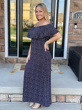 Starry Night Ruffle Maxi Dress