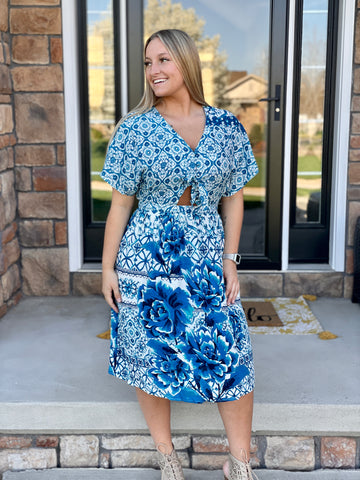 Bridgette Floral Cutout Dress