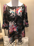 Corinna Floral Keyhole Tunic - PLUS