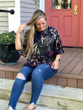 Nadia Floral Cold Shoulder Tunic