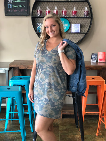 Celeste Camo Pocket Dress