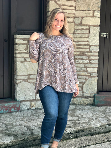 Mocha Paisley Fall Tunic