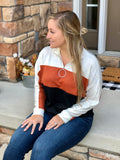 Fall Colorblock Pullover