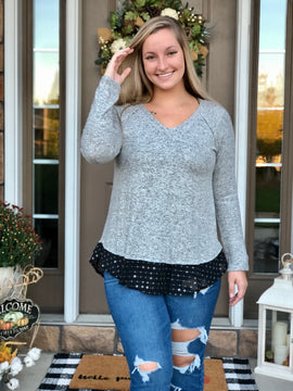 Heather Brushed Knit Top