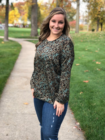 Lizzie Animal Print Top - Curvy