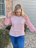 Karly Blush Striped Top