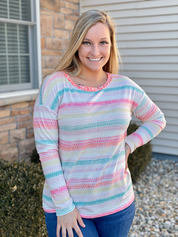 Brynne Spring Striped Top