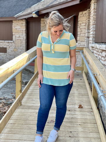 Jacie Color Block Henley