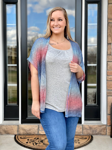 Perfect Sunset Open Cardigan