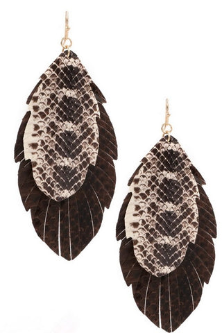 Snake Skin Double Earring