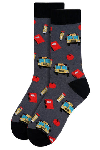 Women's Novelty Schoo/Teacher/Bus Driver Socks