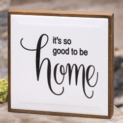 So Good To Be Home Framed Tile Sign