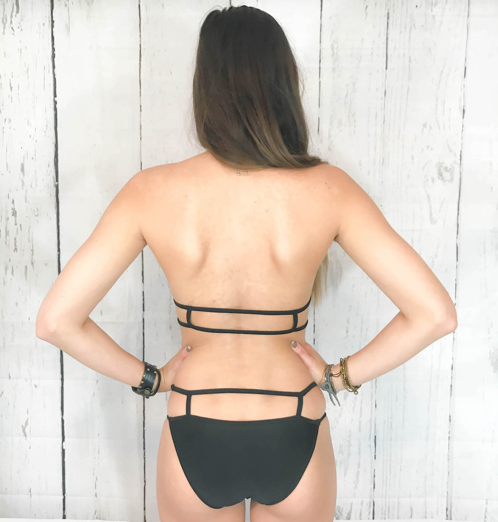Caged Effect Bikini Bottoms