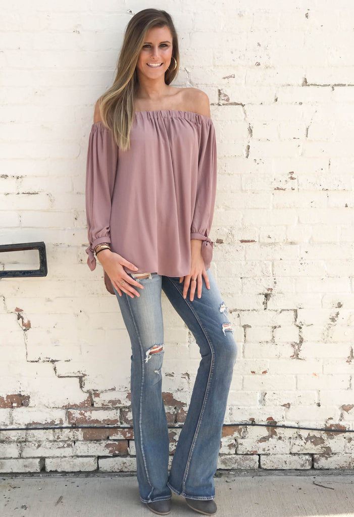 Contemporary Off The Shoulder Top
