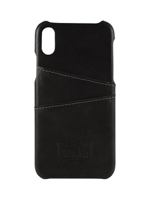 Solomac - Apple iPhone X Leather Case - Black