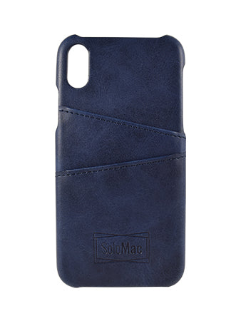 Solomac - Apple iPhone X Leather Case - Blue