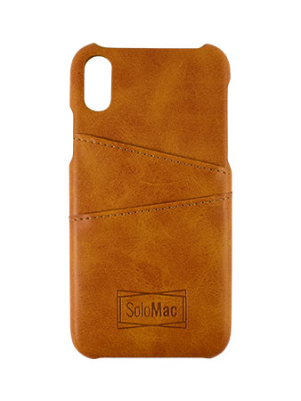 Solomac - Apple iPhone X Leather Case - Camel