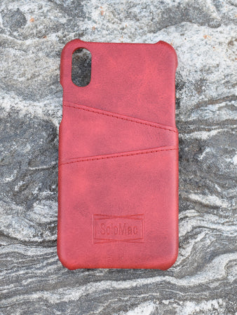Solomac - Apple iPhone X Leather Case - Red