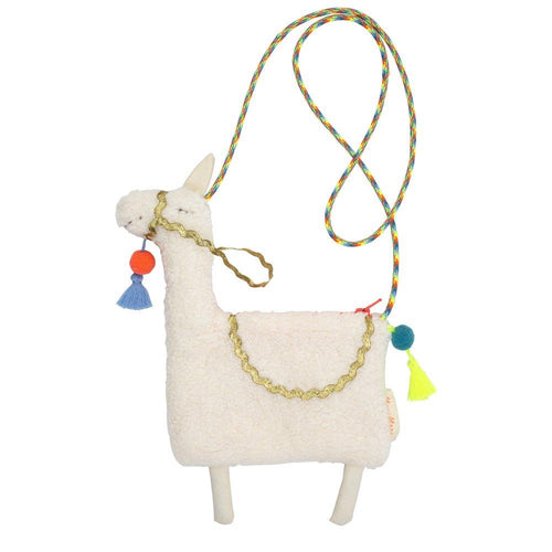 happy going out with Llama handcrafted kids cross body bag - lovefactorynewyork