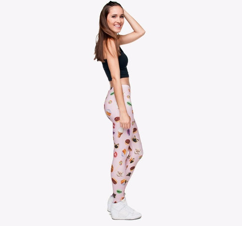 Kawaii Girls 3D print Leggings Kitty cat macaroon ice cream donuts everything we love printing on❤︎ - lovefactorynewyork
