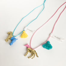 "kids toy necklace Animal lovers message ""be kind"" and ""be brave"""