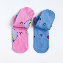 kawaii socks 2pc youth size set unicorn and ice cream - lovefactorynewyork