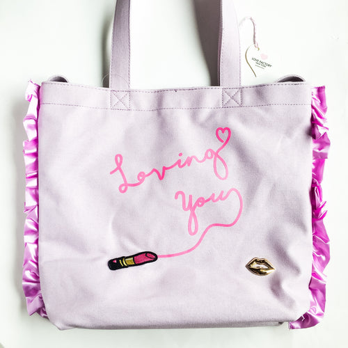 Loving you 2way tote canvas purple