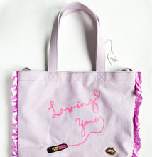 Loving you 2way tote canvas purple - lovefactorynewyork