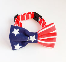 Stylish dog bow tie American Boy USA flag - lovefactorynewyork