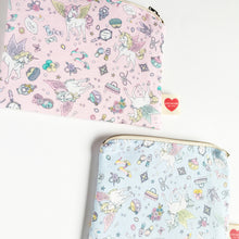 Kawaii pouch pastel pegasus pink or blue-unicorn girly yume kawaii-pencil case-cosmetic pouch-cosmetic purse-love factory NY - lovefactorynewyork