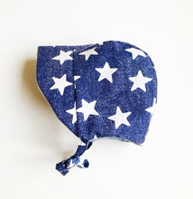 Baby sun bonnet american star-baby sun hat-American flag baby hats-4th of july-baby hat-patriotic-baby boy hat-modern baby hats-love factory