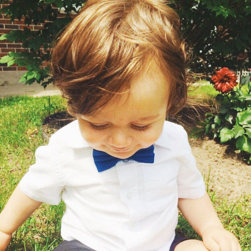 New York baby toddler boy velcro bowtie