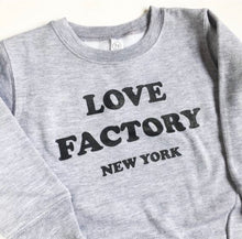 Love Factory New York logo sweat shirts