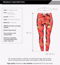 New York City  Girls active work out leggings kawaii 3D print Strawberry - lovefactorynewyork