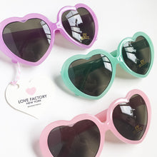 kawaii heart shaped sunglasses pastel flame ladies size - lovefactorynewyork