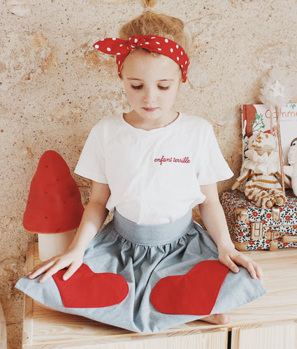 Girl power head wrap bunny bow on top retro sweet polka dot red or blue - lovefactorynewyork