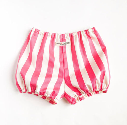 Pop candy striped baby toddler bloomer pink yellow black Love Factory NY