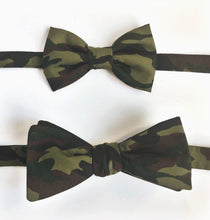 Camouflage army daddy and son matching bow tie set