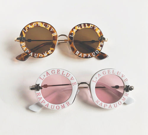 Stylish kids sunglass with french words on - lovefactorynewyork