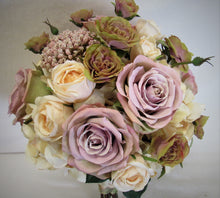 Lavender and Blush Silk Floral Bridal Bouquet/BB08 - April's Garden Wreath