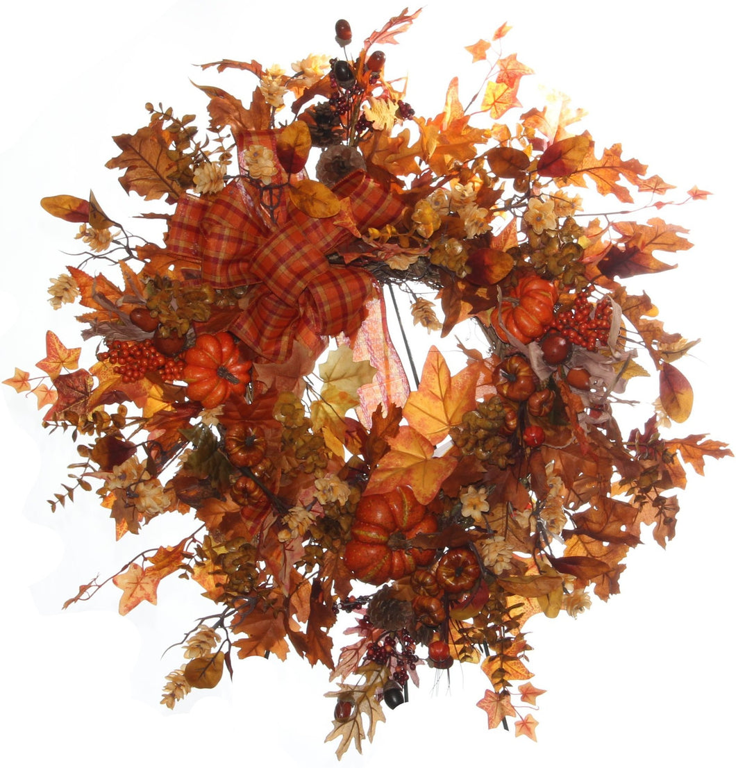 Fall Harvest Wreath/HARV01 - April's Garden Wreath
