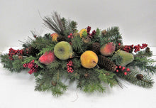 Silk Floral Winter Centerpiece with Crystalized Fruit/HA03 - April's Garden Wreath