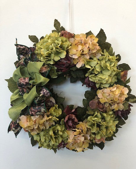 Light Green and Apricot Vintage Style Wreath/Rom15 - April's Garden