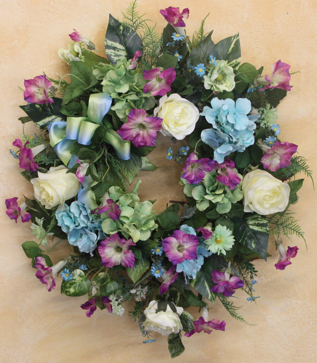 Gallery/SPW100 - April's Garden Wreath